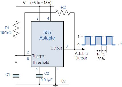 how to calculate cycle of capacitor timer astable 555 frequency problem electrical engineering stack exchange