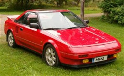 Toyota Mr2 Performance Figures Toyota Mr2 Mk1 1985 Performance Figures Specs And