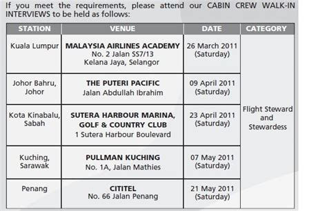 air cabin crew qualifications fly gosh malaysia airlines cabin crew recruitment