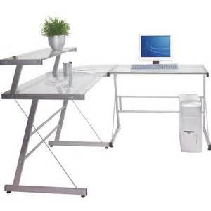 Computer Desk In Miami Miami Glass Corner Computer Desk Polyvore