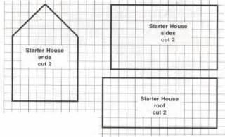 House pattern easy one room house celebrating christmas