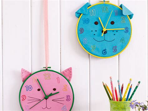 how to make a cat and dog kids clock