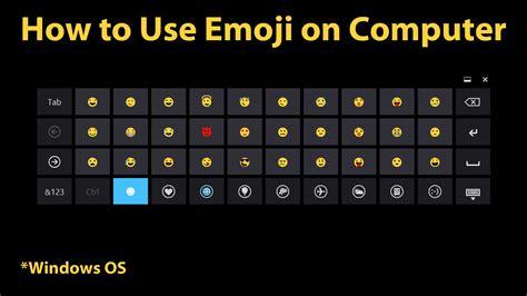 emoji pc how to use emoji on computer windows 8 newer youtube