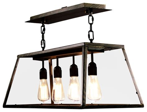 Edison Island Light Black Rustic Kitchen Island Rustic Kitchen Island Lighting