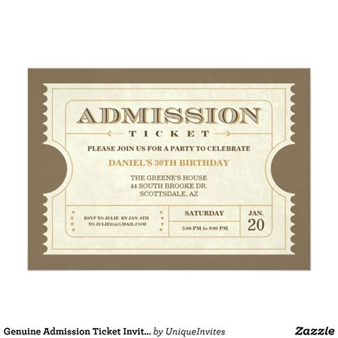 Admission Ticket Invitation Template admission ticket template images