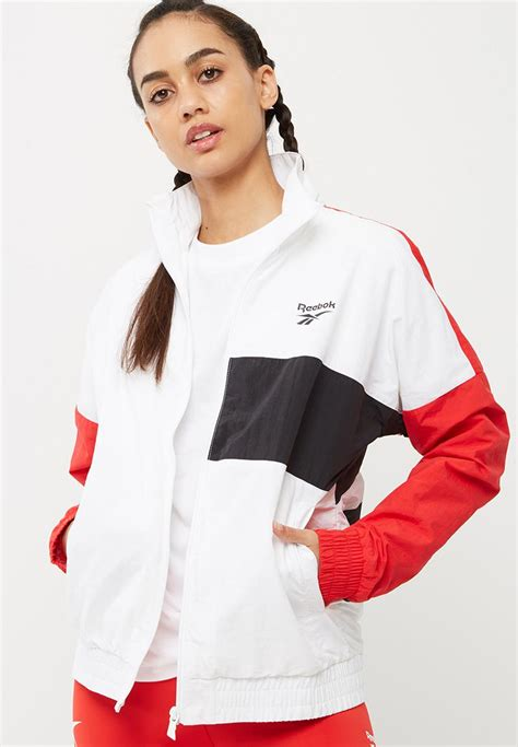 Jaket Reebok Original Jaket Lari Reebok Wanita Jaket Casual Reebok lost and found vector jacket white and primal reebok hoodies superbalist