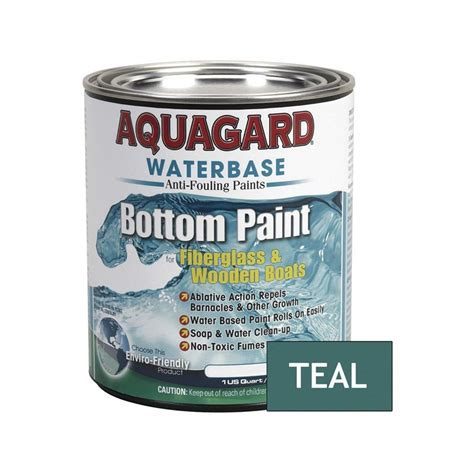 waterbased bottom paint for boats aquagard 174 10005 1 qt teal waterbased antifouling paint