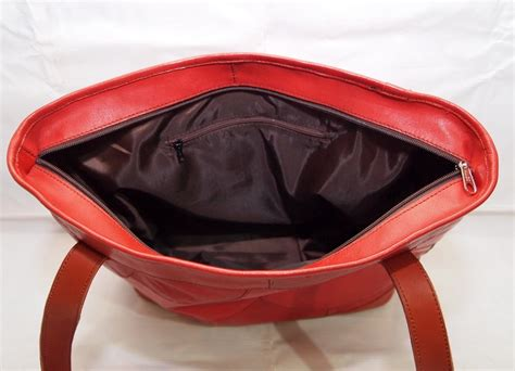 Handbag Wanita Merah tas kulit wanita handbag vintage shocking kode produk