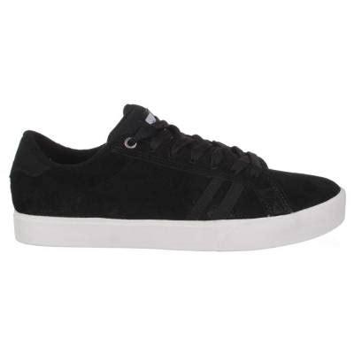 Leo Shoes Black White emerica the leo skate shoes black black white mens