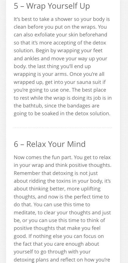 How To Make My Own Detox Wrap by How To Make Your Own Detox Wraps Musely
