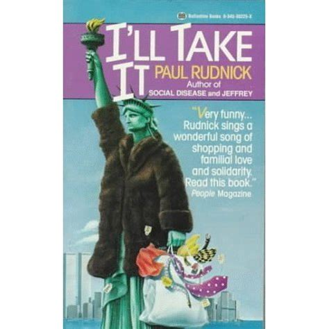 i ll take it by paul rudnick reviews discussion bookclubs lists
