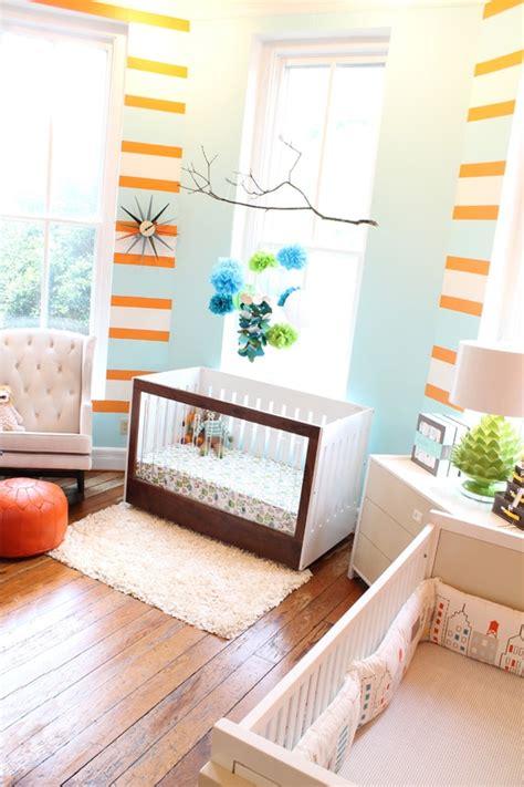 chambre d enfant bleu des chambres d enfants originales en bleu et orange