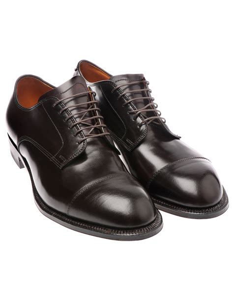 alden mens shoes alden lace up cordovan shoes in brown for burgundy