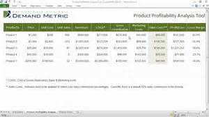margin analysis excel template product profitability analysis template
