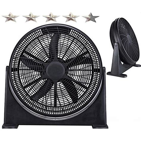 Cooling Fan Black Hi Lo boostwaves 20 in high velocity home cooling power fan
