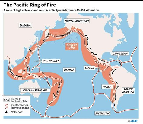 map showing   pacific ring  fire  zone  strong