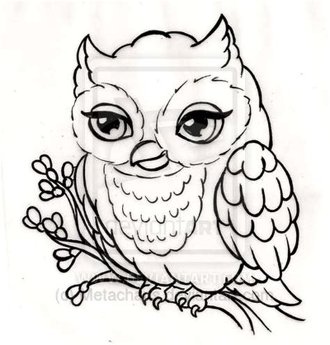 tattoo owl outline the gallery for gt new school girly owl tattoos