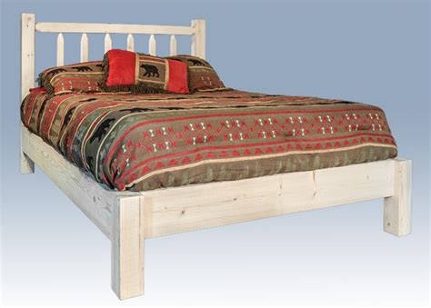 Timber Frame Bed Homestead Timber Frame Platform Bed Stained Lacquered Or Ready To Finish