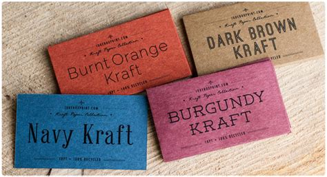 printable kraft paper business cards brown kraft business cards from jukeboxprint com