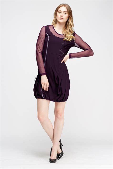 Contrast Sleeve Dress contrast sleeve basic dress 3 colours just 163 5