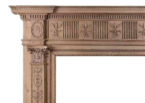 adam style 18th century carved pine chimneypiece adam style at 1stdibs