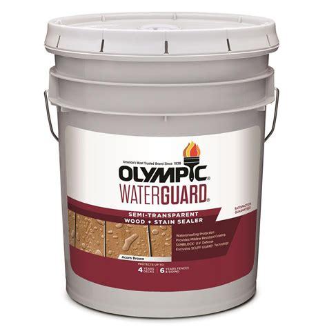 olympic waterguard  gal acorn brown semi transparent