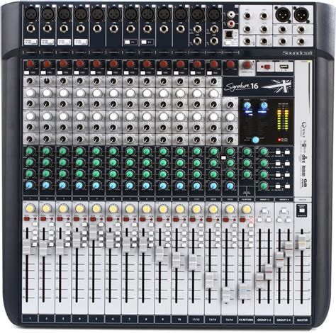 Mixer Soundcraft Fx 16 soundcraft signature 16 mixer with effects sweetwater