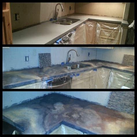 Concrete Countertop Paint concrete countertops paint glaze repurpose home decor