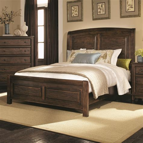 queen bed wood coaster 203260q brown queen size wood bed steal a sofa