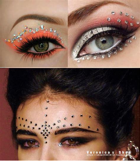 eyeliner tattoo violent eyes jewel stickers for face kamos sticker