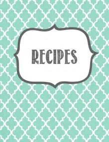 binder cover page template melanie gets married recipe binder printables
