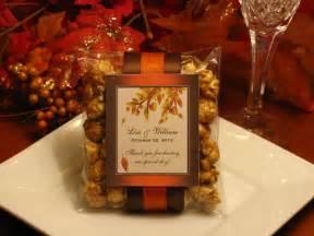 autumn fall caramel corn popcorn wedding favors by