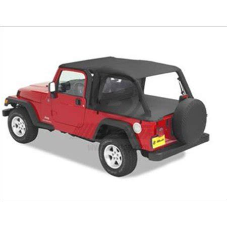 canada 04 06 lj bestop safari top & windshield channel