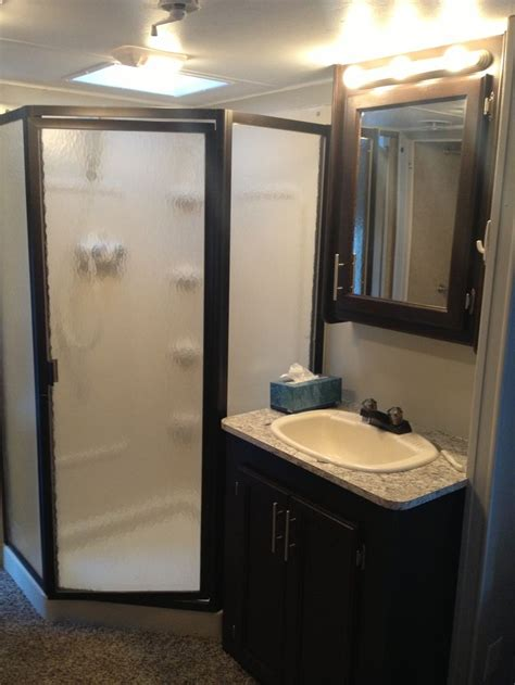 rv bathroom remodeling ideas after rv renovation shower sink rv remodel ideas
