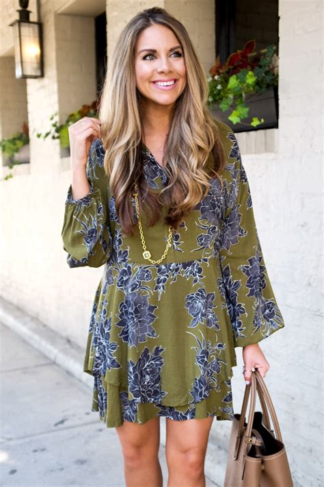 25081 Green Leisure Style Dress green floral dress the a dallas fashion