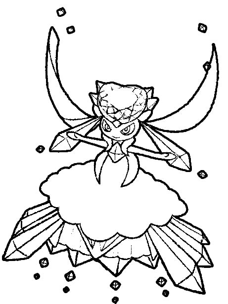 pokemon coloring pages mega diancie mismagius pokemon coloring page free printable pages