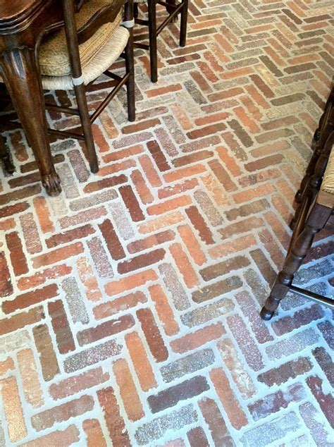 17 Best images about Brick Floor Kitchen on Pinterest