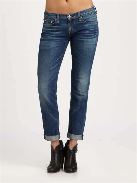 lyst rag bone  dre skinny boyfriend jeans  blue