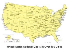 Map Of United States With Major Cities by Maps Of The United States With Cities Labeled
