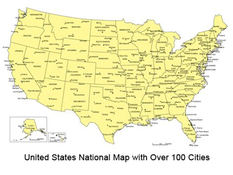 us map states and major cities maps of the united states with cities labeled