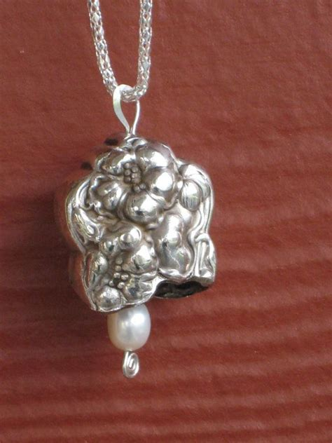 make jewelry from silverware antique silverplate knife bell necklace pendant antique