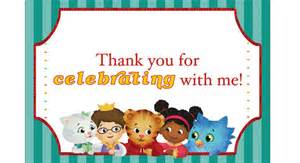 daniel tiger card daniel tiger theme party pbs parents pbs
