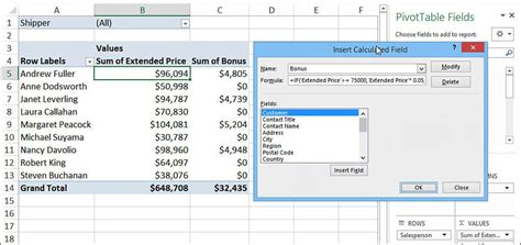 Pivot Table Calculated Item by Excel Pivot Table Calculated Field If Statement Excel