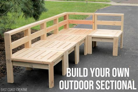 how to build an outdoor sectional knock it off east