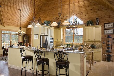 Adding Kitchen Cabinets log cabin kitchens with modern and rustic style