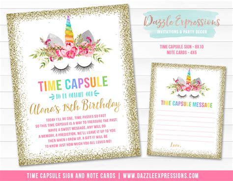 Birthday Time Capsule Printable