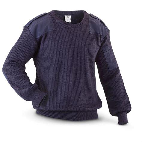 Sweater Navy used italian surplus commando sweater navy blue