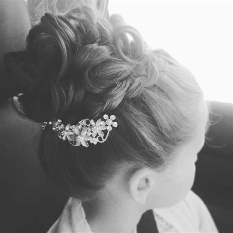 girl hairstyles bun little girl hairstyle idea high bun braid updo