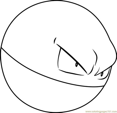 Pokemon Coloring Pages Voltorb | voltorb pokemon coloring page free pok 233 mon coloring