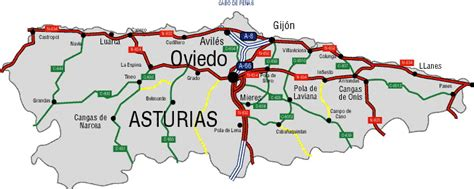 asturias mapa de carreteras 8499355900 principado de asturias mapa asturias